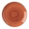 Churchill Stonecast Round Coupe Plate Spiced Orange 200mm thumbnail