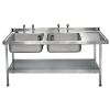 Franke Sissons Stainless Steel Sink Double Right Hand Drainer 1800x650mm thumbnail