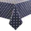 PVC Polka Dot Tablecloth Blue 35