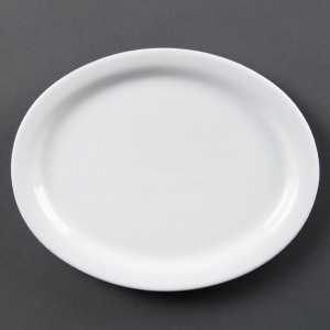 Olympia Whiteware Oval Platters 250mm