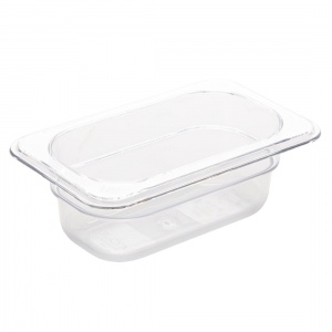 Vogue Polycarbonate 1/9 Gastronorm Container 65mm Clear
