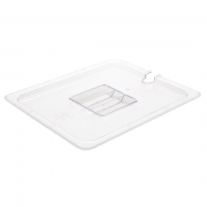 Vogue Polycarbonate 1/2 Gastronorm Lid Notched