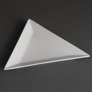 Olympia Whiteware Triangle Plates 254mm
