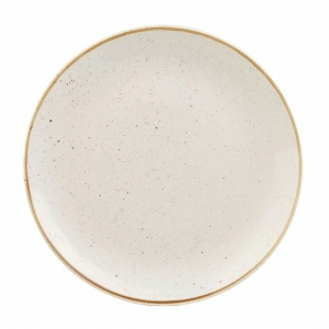 Churchill Stonecast Round Coupe Plate Barley White 200mm