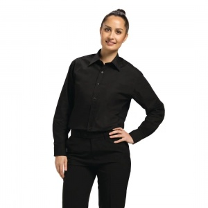 Uniform Works Unisex Long Sleeve Dress Shirt Black