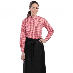 Uniform Works Womens Gingham Shirt Red