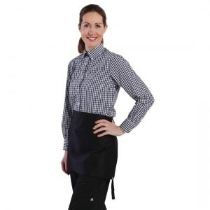 Uniform Works Womens Gingham Shirt Black