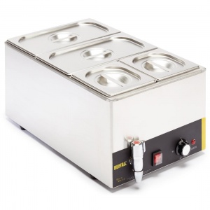 Buffalo Bain Marie with Tap and Pans