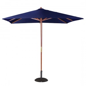 Bolero Square Double Pulley Parasol 2.5m Diameter Navy Blue
