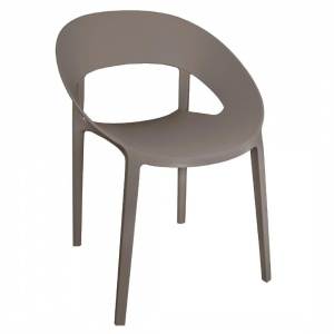 Bolero Wraparound Chair Coffee (Pack of 4)