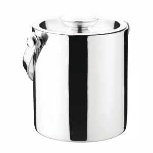 Olympia Double Walled Ice Bucket with Lid 1L