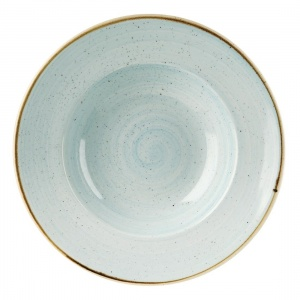 Churchill Stonecast Round Wide Rim Bowl Duck Egg Blue 280mm